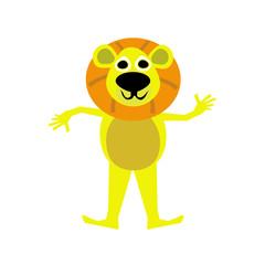 illustration of Lion cartoon.Vector