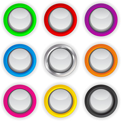 Colored Buttons Set