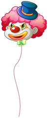 A colourful clown balloon