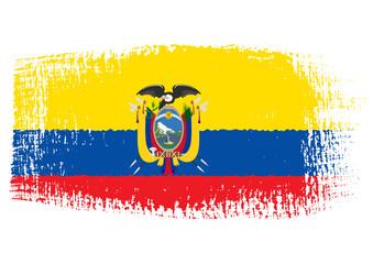brushstroke flag Ecuador