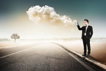 man spray clouds2
