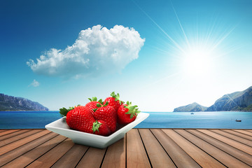 strawberries on the harbor