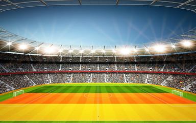 Stadion Deutschland Seitenlinie