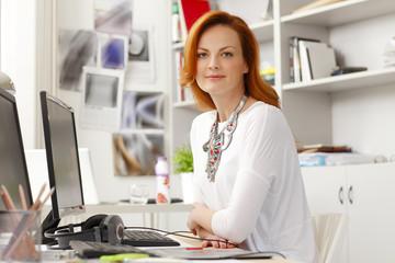 Portrait of beautiful modern businesswoman