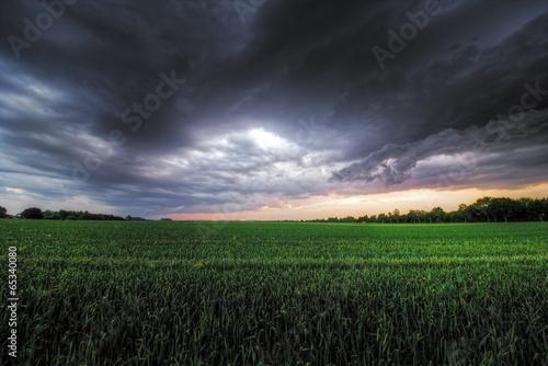canvas print picture Aufziehendes Gewitter
