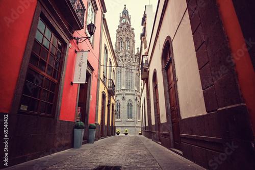 canvas print picture San Juan Bautista in Arucas – Spanien