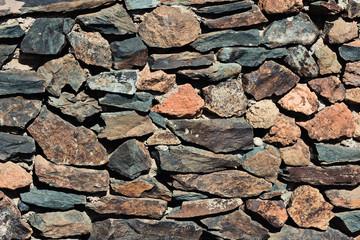 Steinwand aus Natursteinen – Hintergrund