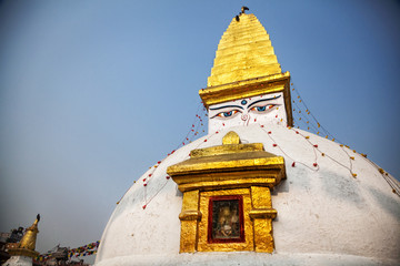 Buddhist stupa in Bodnath