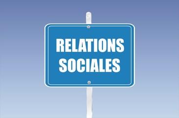 panneau relations sociales