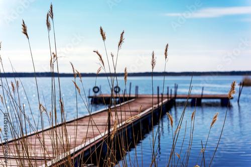 Fototapeta Dock for pleasure and fishing boats
