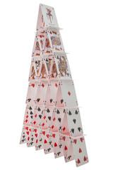 ein Kartenhaus - schwer zu bauen und sehr zerbrechlich