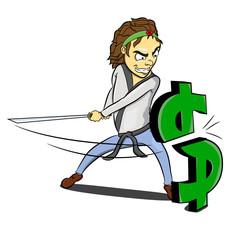 Karate ninja slash dollar