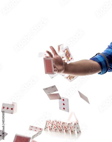 Zerschmettern eines Kartenhauses