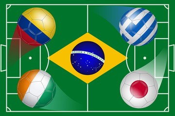 Brazil. Soccer World Cup. Group C