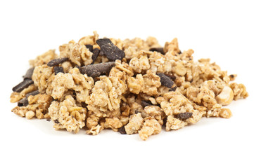 heap of chocolate muesli