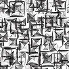 Rectangular seamless pattern in black and white