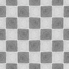 Chessboard seamless pattern in black and white