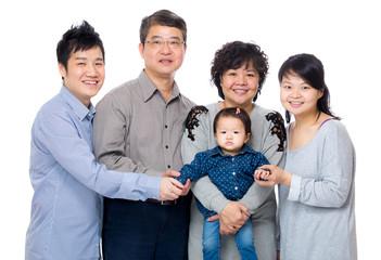 Happy asia family with three generation