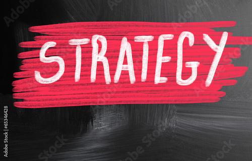 strategy handwritten with chalk on a blackboard