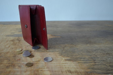 Burgundy, a little battered wallet