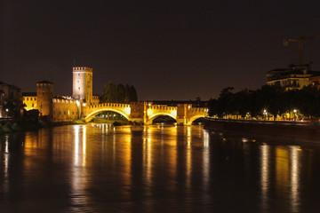 Отражения моста Скалигеров, Верона