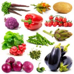 collage di verdura fresca