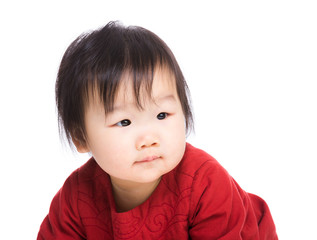 portrait of asian baby girl