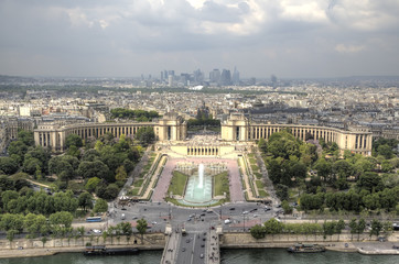 View of Paris from Eiffel Tower. Paris, France