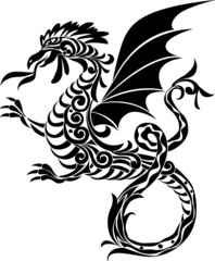 Arabesque dragon