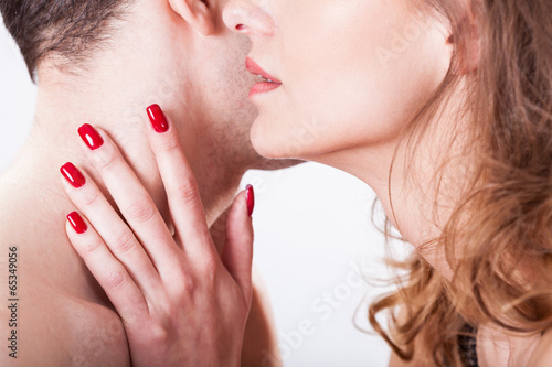 Huging and kissing lovers