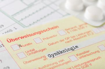Überweisungsschein Gynäkologie