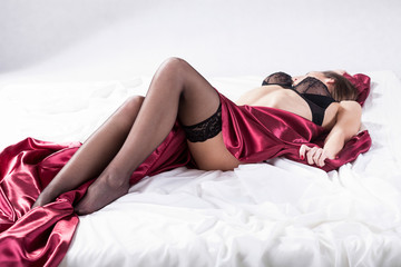 Lady waiting for sexual intercourse