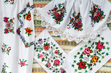 Belarus, crafts. Towels, satin stitch