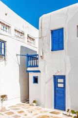 Typical cycladian house in Mykonos