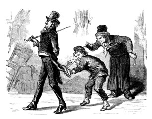 Pickpockets - Voleurs - 19th century