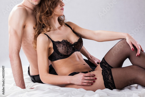 Lovers before sexual intercourse