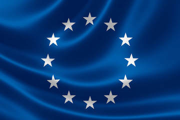 European Union Flag Close Up