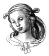 Young Woman : drawing from Raphael - 16th century