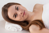 Woman with perfect skin at beauty salon