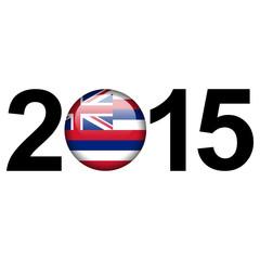 Flag button - Hawaii