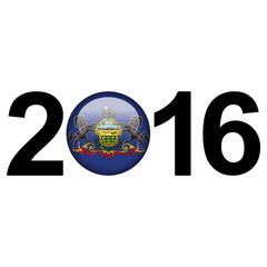 Flag button - Pennsylvania