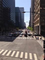 chicago mit hochhäusern in der city