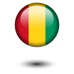 Flag button illustration - Guinea