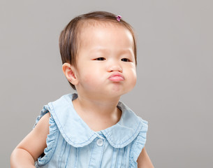 Little girl with funny face