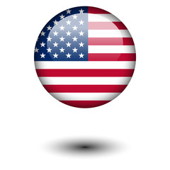 Flag button illustration - United States