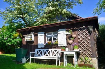Garten Gartenhütte Blumen