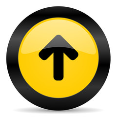up black yellow web icon