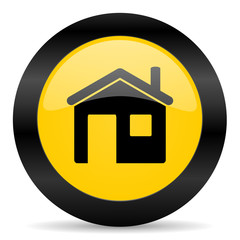 house black yellow web icon