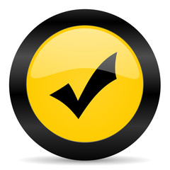 accept black yellow web icon