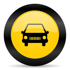 car black yellow web icon